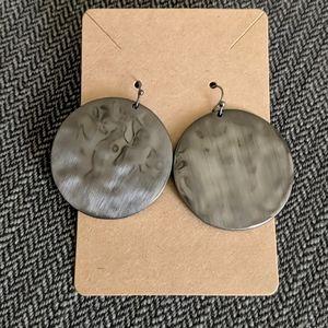 Round Gray Earrings